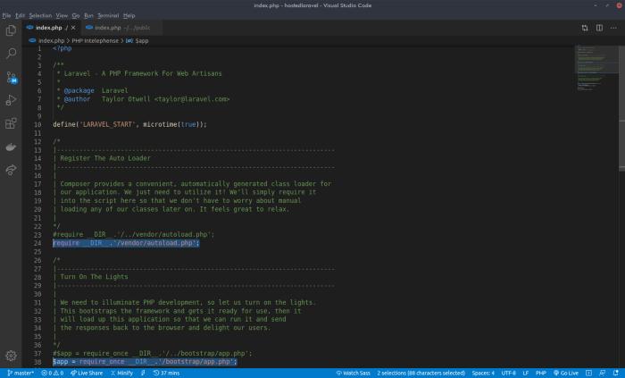 Laravel project run properly on cPanel