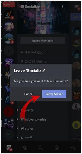 Confirm Leave Server